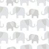 NuWallpaper Elephant Parade 5.5m L x 52cm W Animals Roll Wallpaper