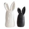 Smudge 2 Piece Stoneware Rabbit Figurines Set (Set of 2)