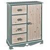 Hazelwood Home 4 Drawer 1 Door Storage Cabinet