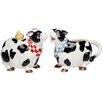 Cosmos Gifts Cow Sugar and Creamer Set