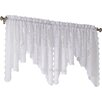 No. 918 Millennial Alison Floral Sheer Lace Rod Pocket Curtain Valance