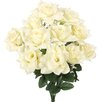 Admired by Nature Artificial Blooming Veined Satin Rose Flowers Bush
