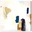 Oliver Gal Artana 'Azul Marron' Graphic Art Wrapped on Canvas