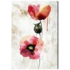 Oliver Gal 'Poppy Study II' Art Print Wrapped on Canvas