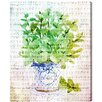 Oliver Gal 'Basil' Graphic Art Wrapped on Canvas