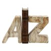 """Langley Street """"A"""" and """"Z"""" Ceramic Book Ends (Set of 2)"""