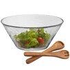 Aguayo Salad Bowl with Wood Servers