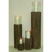 Noor Living 4-tlg. Windlicht-Set aus Holz