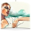 I-like-Paper 30 cm Lampenschirm Woman with Bag aus Tyvek