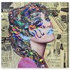 Oliver Gal 'Hieroglyphics' by Katy Hirschfeld Graphic Art Wrapped on Canvas