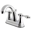 Kingston Brass Tudor Standard Centerset Bathroom Faucet with Drain Assembly