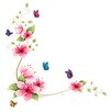 RetailSource Floral Flowers Wall Decal
