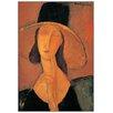 Castleton Home 'Jeanne Hebuterne' by Modigliani Art Print