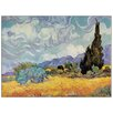 Castleton Home 'Cypress Trees' by Van Gogh Art Print