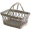 Castleton Home Folding Handle Wicker Basket