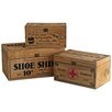 Castleton Home 3 Piece Shoe Pharmacie Sewing Wooden Box Set