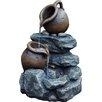 Kingfisher Stone 2 Jug Rock Garden Water Fountain