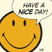 Art Group Have a Nice Day - Cream Canvas Wall Art