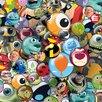 Art Group Disney Pixar - Buttons Vintage Advertisement Canvas Wall Art