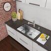 "VIGO 30"" x 19"" Undermount Single Bowl 16 Gauge Stainless Steel Kitchen Sink with Faucet"