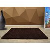 UK Furnishing UK Ltd Opus Shaggy and Flokati Brown Area Rug