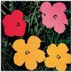 Castleton Home 'Flowers, 1964' by Warhol Graphic Art