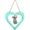 Castleton Home Metal Craft Heart and Dog Decoration Wall Hanging