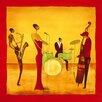 DEInternationalGraphics Jazz Band by Ona Painting Print