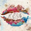 "DEInternationalGraphics Kunstdruck ""Kiss"" von Patrick Cornée"