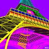 DEInternationalGraphics 'Tour Eiffel Happy' by Dominique Massot Graphic Art Print on Glass