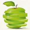 "DEInternationalGraphics Kunstdruck ""Green Apple Cut"" von Paolo Golinelli"