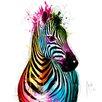 DEInternationalGraphics Zebra Pop by Patrice Murciano Painting Print