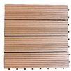 """Century Outdoor Living Composite 12"""" x 12"""" Interlocking Deck Tiles in Redwood Brown"""