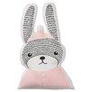 Bloomingville Rabbit Shaped Cotton Throw Pillow