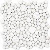 """EliteTile Boulder 11"""" x 11"""" Porcelain Mosaic Tile in White"""