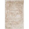 Orian Shag Hand-Tufted Beige Area Rug