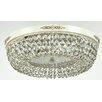 Maytoni Chandeliers Diamant Crystal Garda 4 Light Flush Ceiling Light