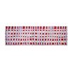 Pedrini LifeStyle-Mat Chequered Red/Beige/Lilac Runner