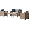 Parcel in the Attic 4 Seater Sofa Set with Cushions