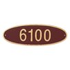 Montague Metal Products Inc. Wilshire 1-Line Wall Address Plaque