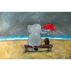 Marmont Hill 'Elephant Umbrella' by Andrea Doss Art Print Wrapped on Canvas