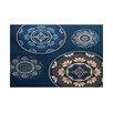 Bungalow Rose Soluri Blue Indoor/Outdoor Area Rug
