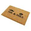 Artsy Doormats Mr and Mrs Doormat