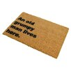Artsy Doormats Grumpy Man Lives Here Doormat