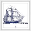 Marmont Hill Ship Framed Graphic Art