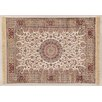 Castleton Home Fara Medallion Ivory/Red/Light Brown Area Rug