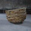 Nkuku Mundu Bamboo and Leather Basket