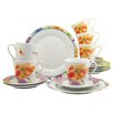 Creatable Happy Day 18 Piece Dinnerware Set with Mug, Service for 6