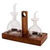 Harch Wood Couture 3-tlg. Öl- und Essig-Set