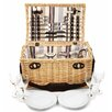 Greenfield Oxford Willow Picnic Hamper for Four People